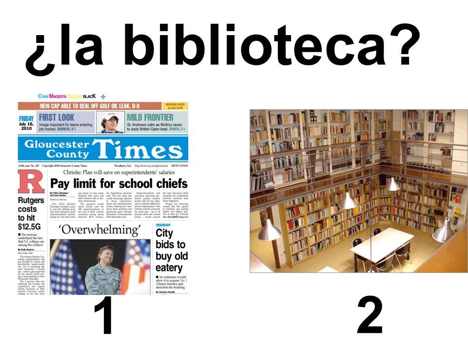 1 2 ¿la biblioteca?