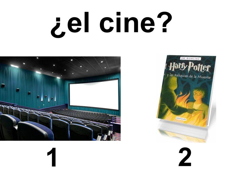 1 2 ¿el cine?