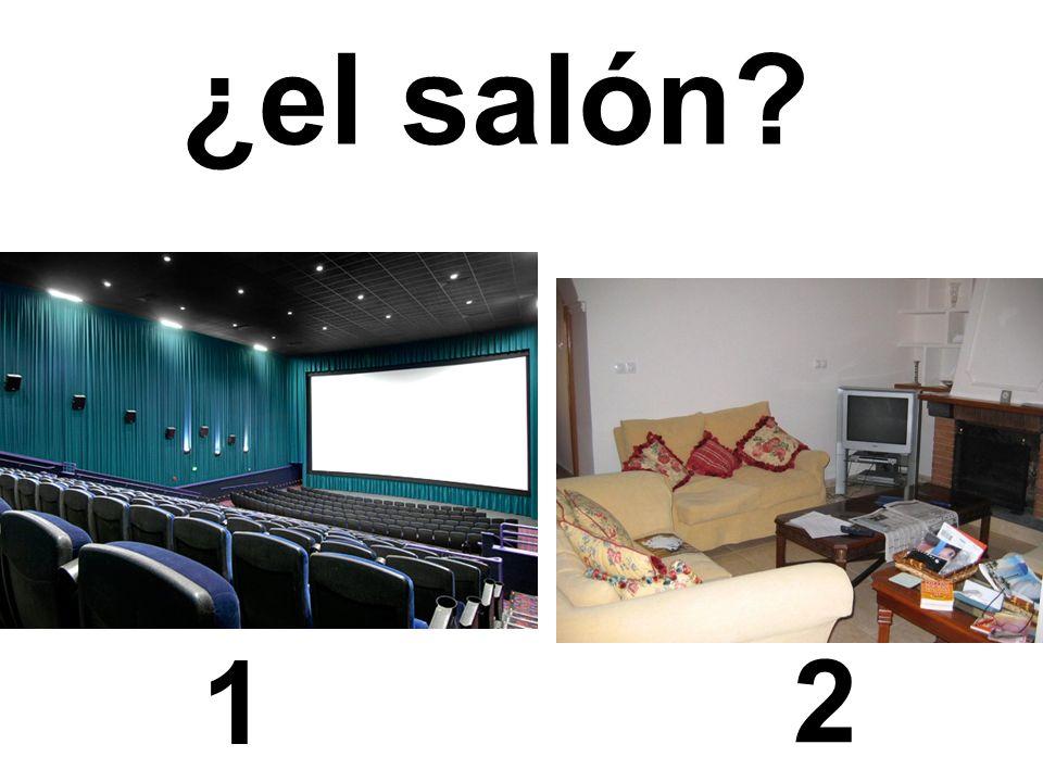 1 2 ¿el salón?