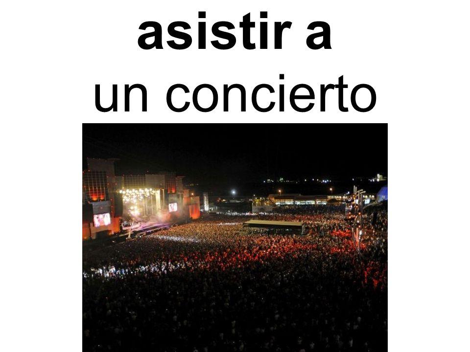 asistir a un concierto