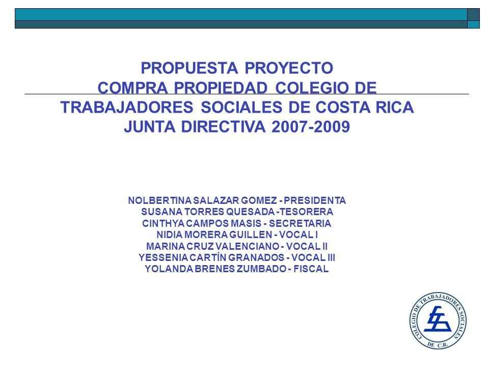 PROPUESTA PROYECTO COLEGIO DE TRABAJADORES SOCIALES DE COSTA RICA JUNTA DIRECTIVA 2007-2009 El restaurante cuenta con dos áreas equipadas con el menaje necesario para atender más de cuarenta y cinco personas.