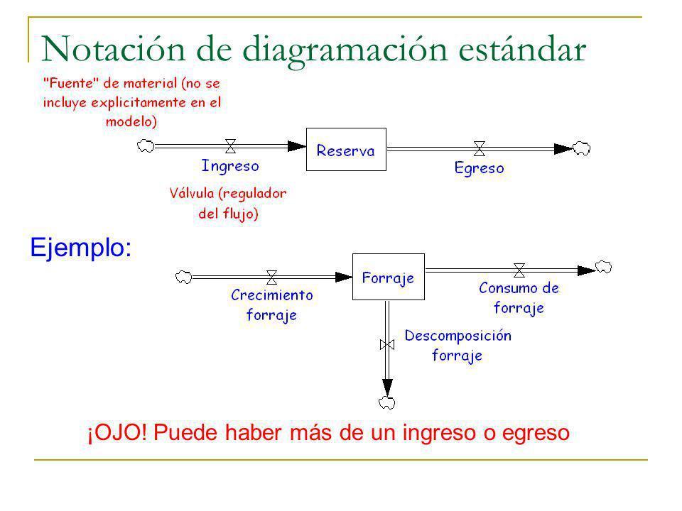 Notación de diagramación estándar ¡OJO! Puede haber más de un ingreso o egreso Ejemplo: