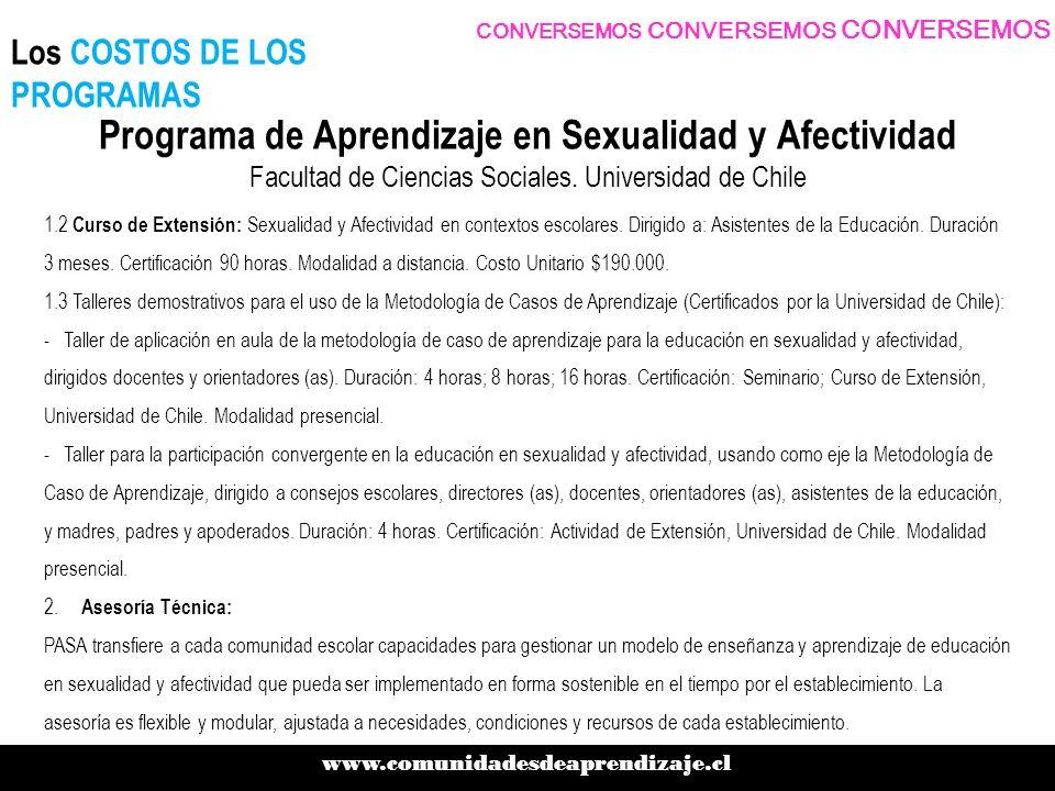 1.2 Curso de Extensión: Sexualidad y Afectividad en contextos escolares.