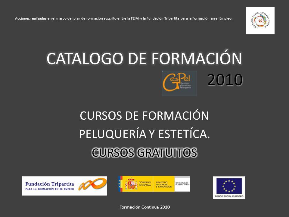 Formación Continua 2010 La Formación Profesional para el Empleo, uno de los dos subsistemas de Formación Profesional existentes en España, tiene por objeto la formación de los trabajadores desempleados y ocupados para mejorar su capacitación profesional y desarrollo personal.