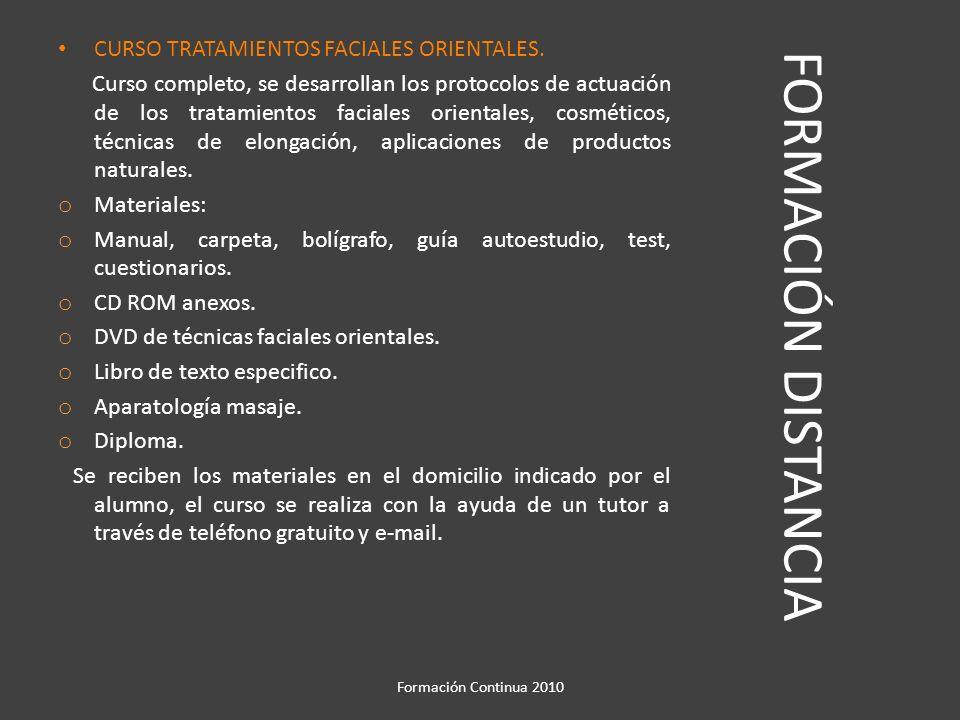 FORMACIÓN DISTANCIA CURSO DE CAMBIOS DE COLOR EN EL CABELLO.