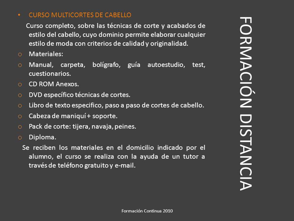 FORMACIÓN DISTANCIA CURSO PELUQUERIA DE CABALLEROS.