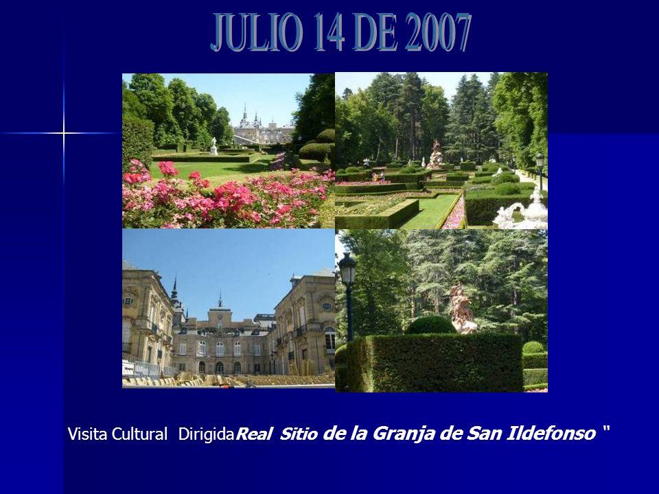 Visita Cultural DirigidaReal Sitio de la Granja de San Ildefonso