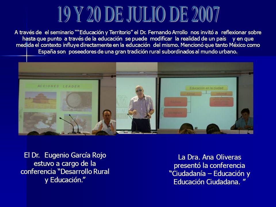 A través de el seminario Educación y Territorio el Dr.