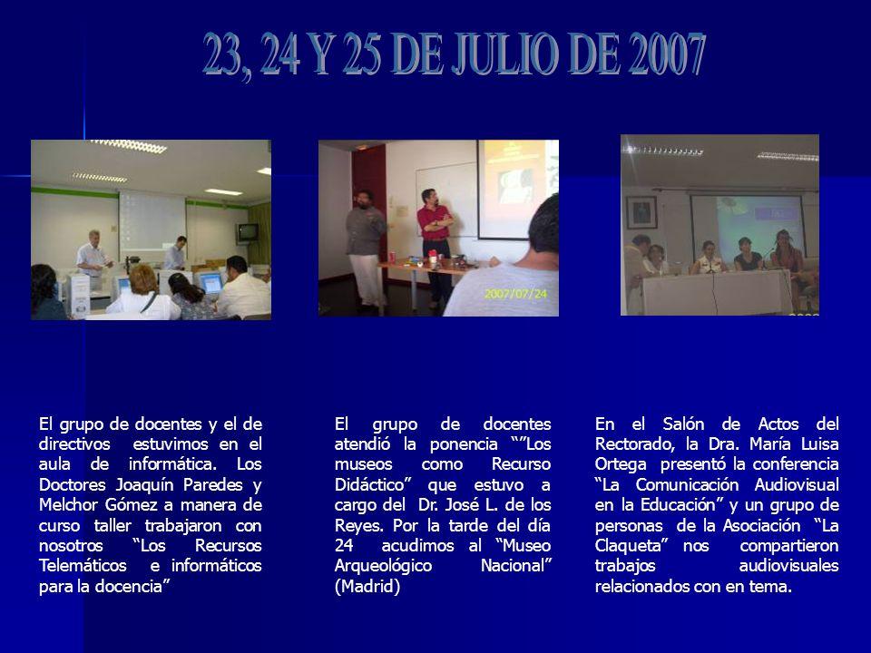 El grupo de docentes y el de directivos estuvimos en el aula de informática.