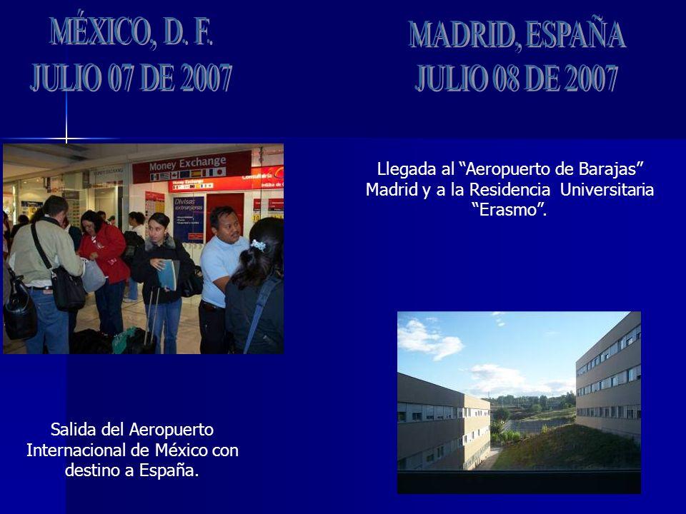 Salida del Aeropuerto Internacional de México con destino a España.