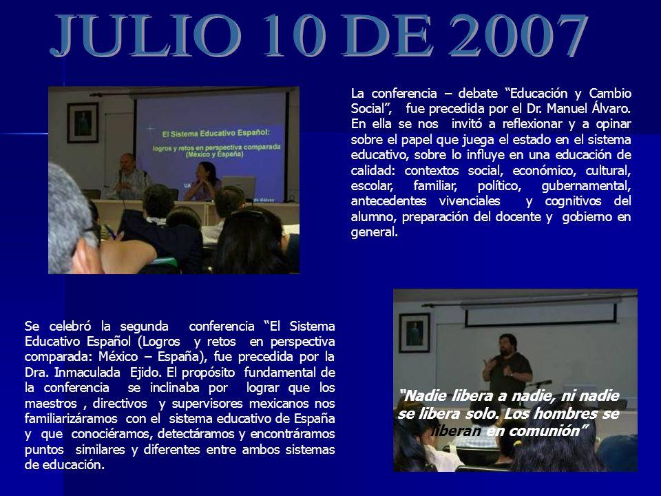 Se celebró la segunda conferencia El Sistema Educativo Español (Logros y retos en perspectiva comparada: México – España), fue precedida por la Dra.