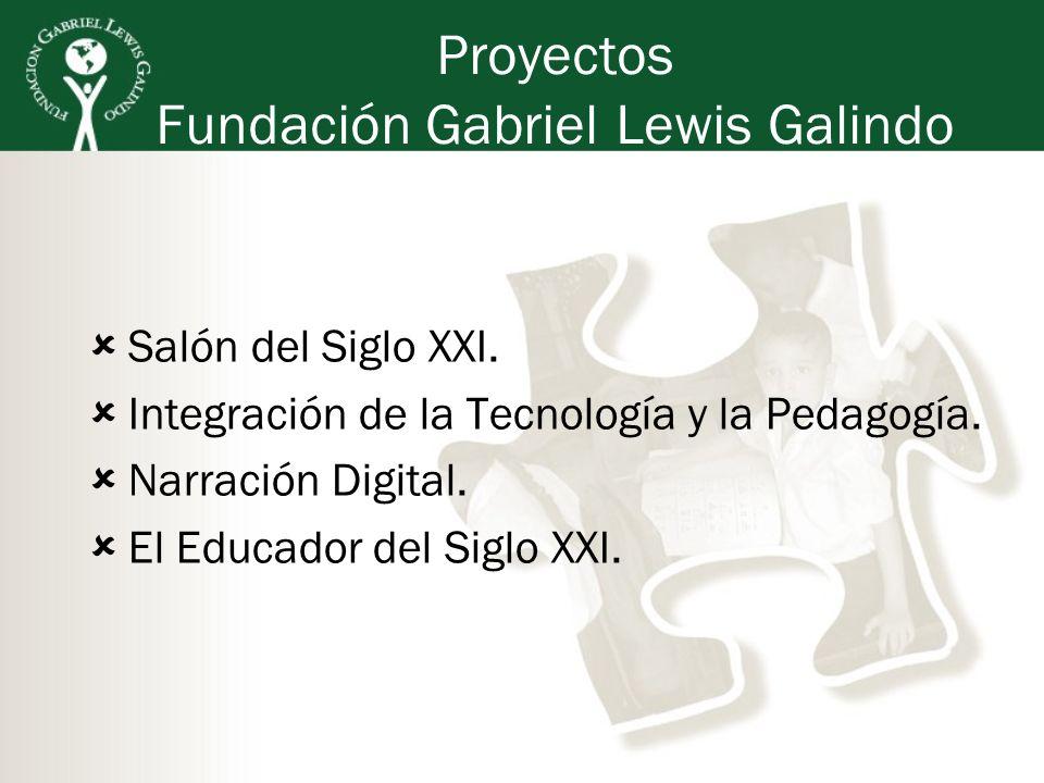 Salón del Siglo XXI. Integración de la Tecnología y la Pedagogía. Narración Digital. El Educador del Siglo XXI. Proyectos Fundación Gabriel Lewis Gali