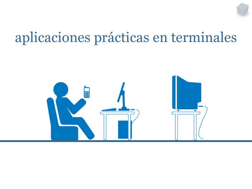 aplicaciones prácticas en terminales