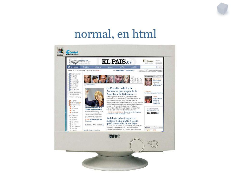 normal, en html