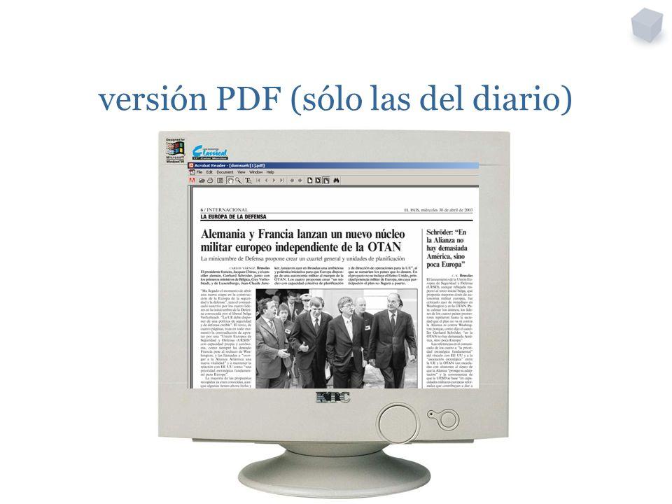 versión PDF (sólo las del diario)