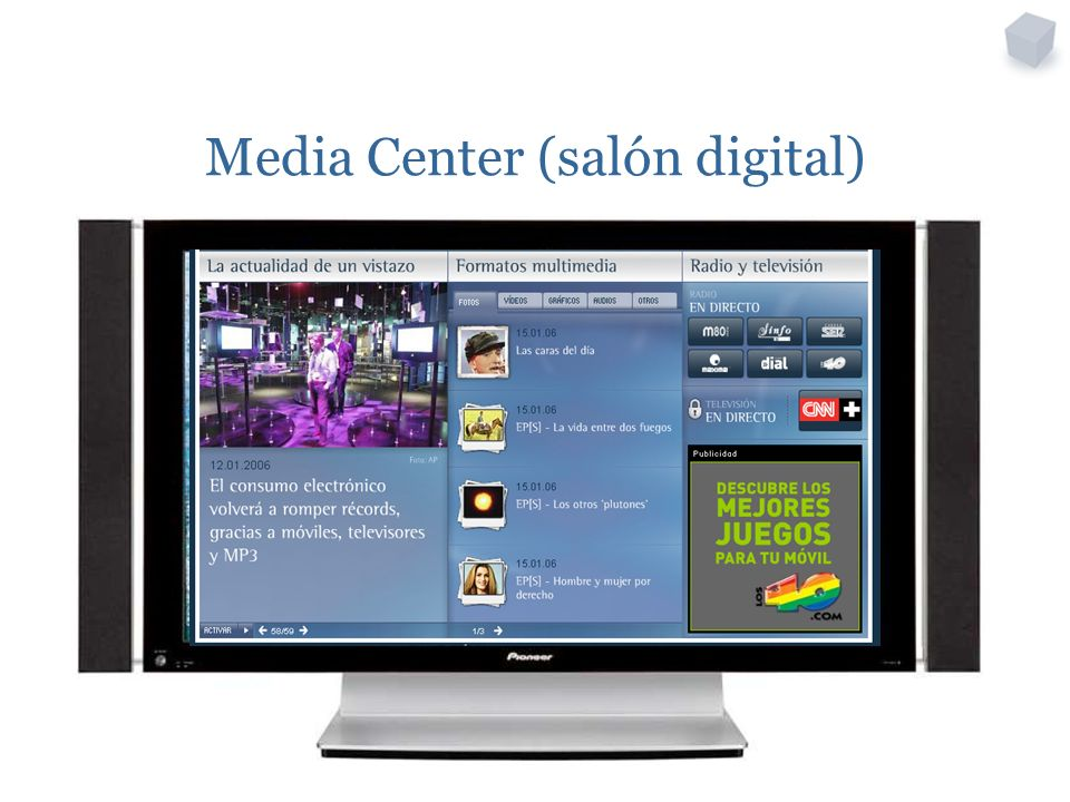 Media Center (salón digital)