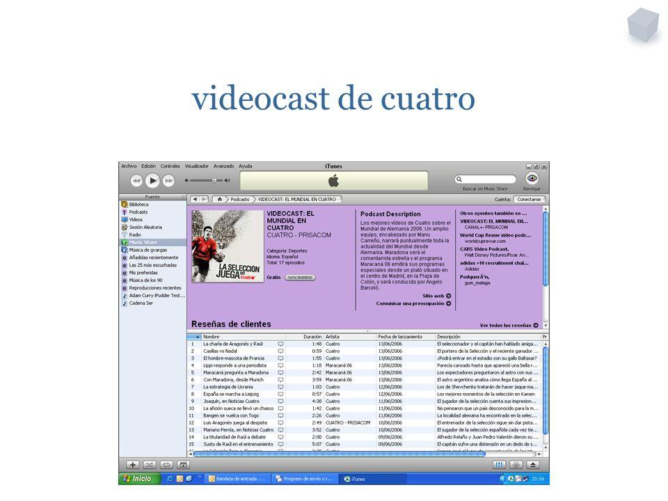 videocast de cuatro