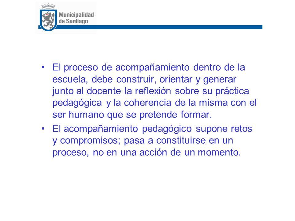 2) Diagnóstico de prácticas docentes Diagnosticar prácticas sobre: –Programación curricular, planificación de clases, docencia en aula, evaluación de aprendizaje y de la enseñanza.