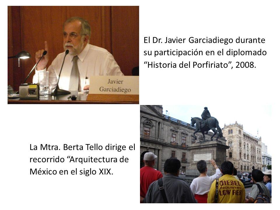 El Dr.Javier Garciadiego durante su participación en el diplomado Historia del Porfiriato, 2008.