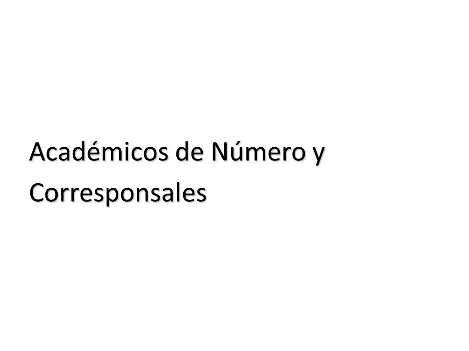 Académicos de Número y Corresponsales