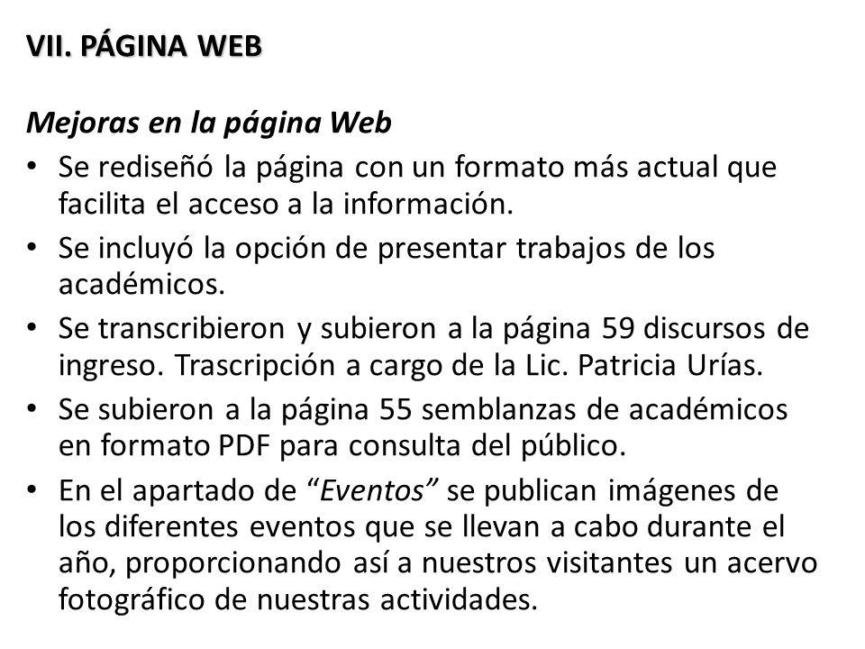 VII.PÁGINA WEB VII.