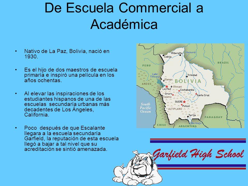 En lugar de dirigir sus clases a los estudiantes con bajo rendimiento académico, Escalante ofrecía AP Cálculo.