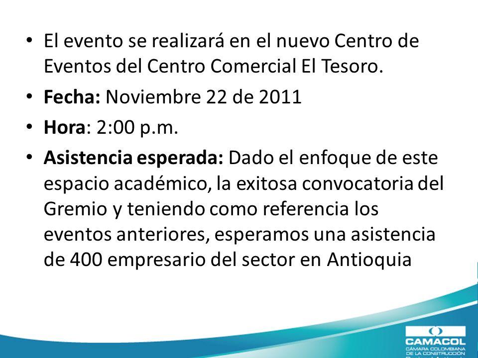 El evento se realizará en el nuevo Centro de Eventos del Centro Comercial El Tesoro.
