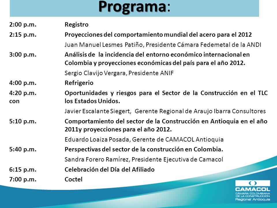 Programa Programa: 2:00 p.m.