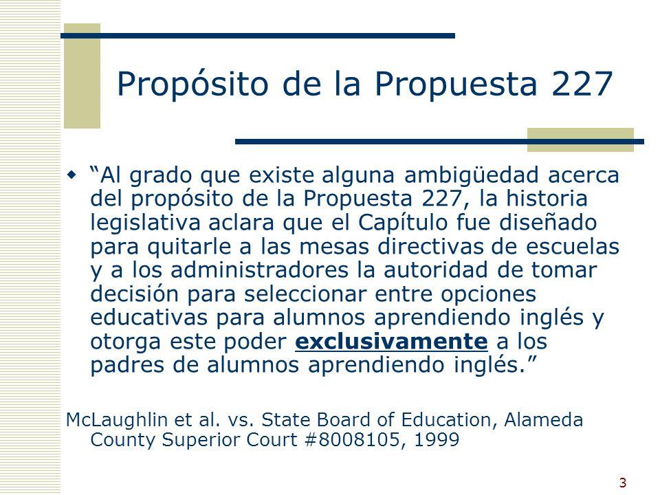 13 Código de educación § 311 Los padres pueden solicitar una excepción en alguna de las siguientes tres circunstancias…