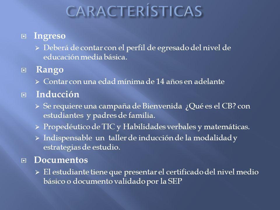 Plan de estudios Bachillerato General, establecido por la institución y bajo el marco de competencias.
