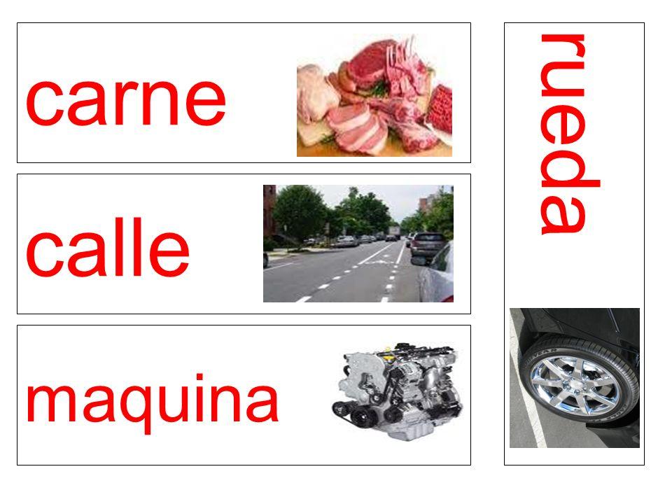 carne calle maquina rueda