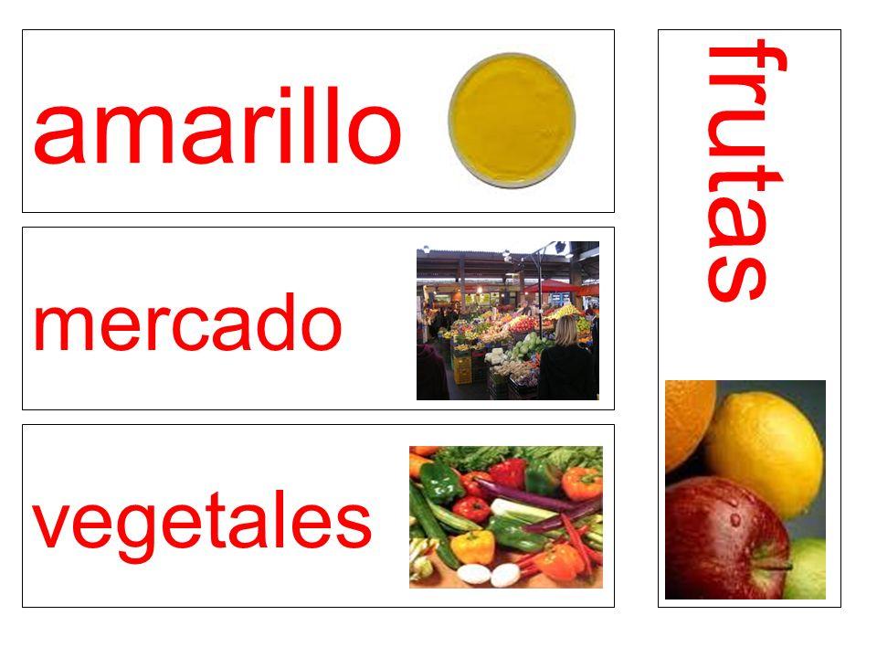 amarillo mercado vegetales frutas