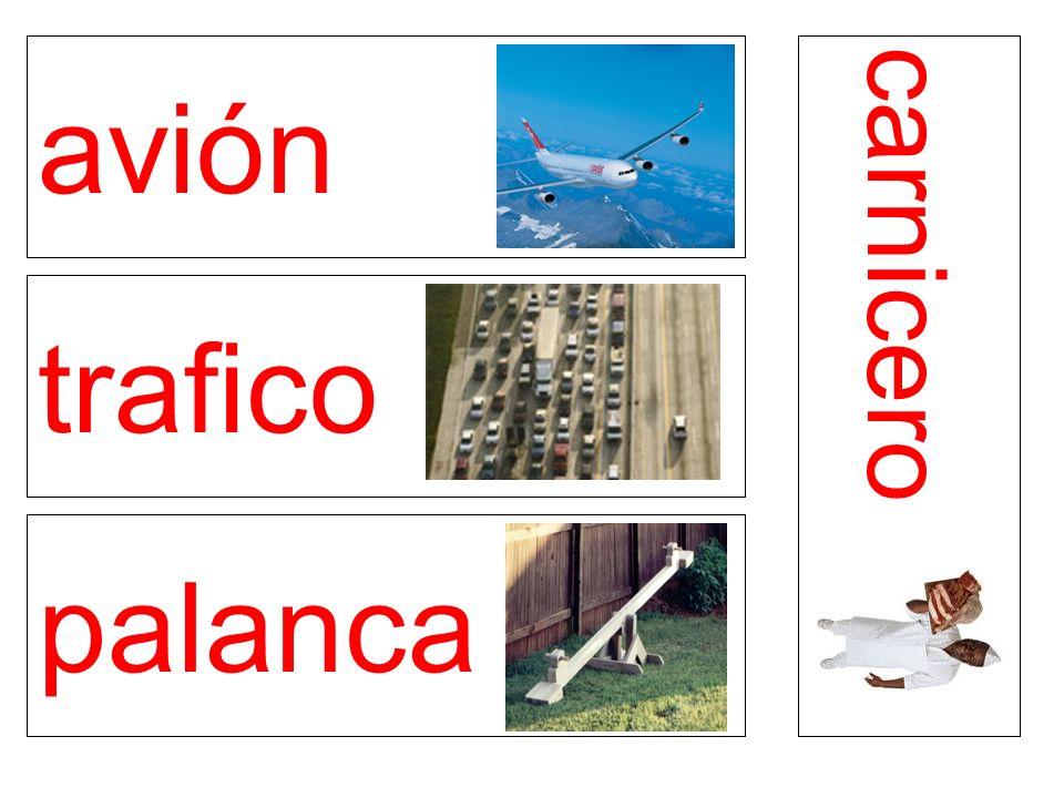 avión trafico palanca carnicero