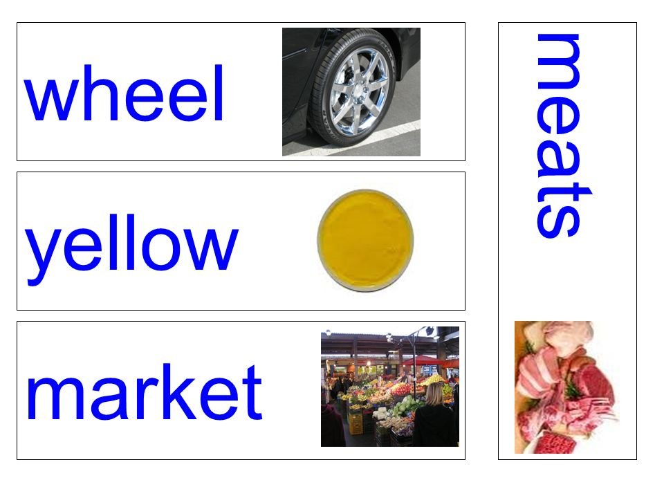 wheel yellow market meats