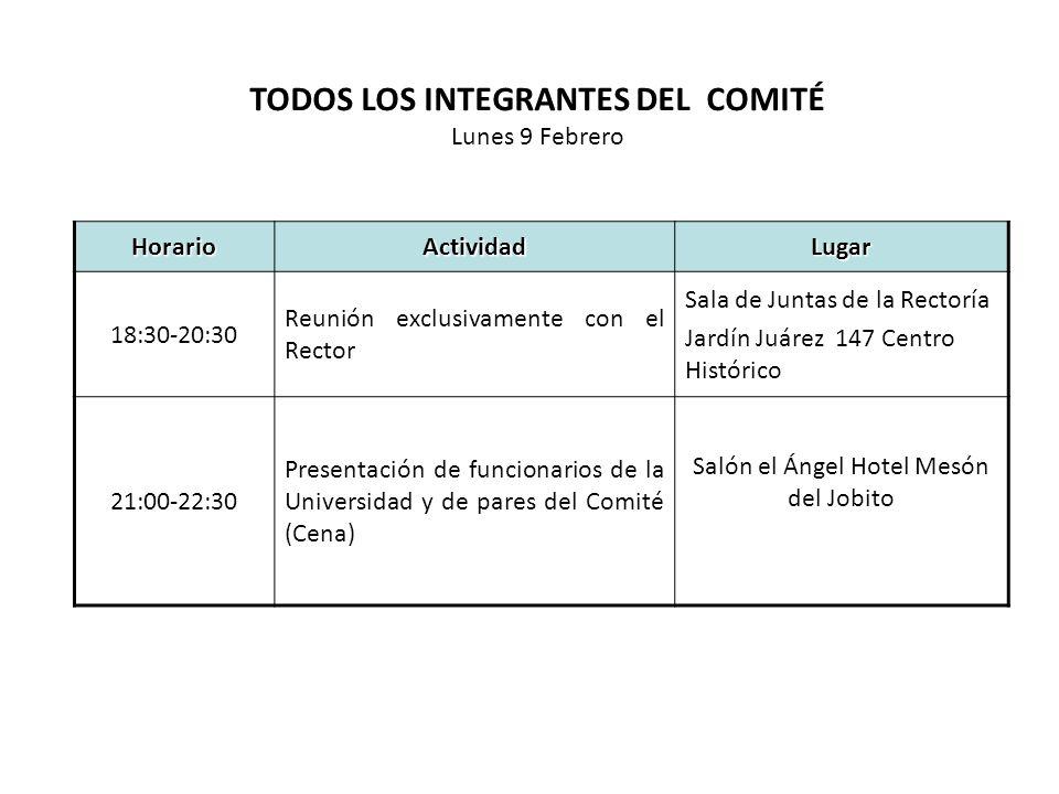 HorarioEntrevista Responsable y Lugar 09:00-10:00Entrevista Abogado General Lic.