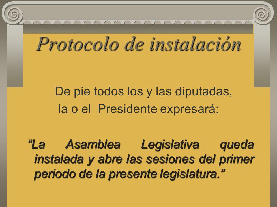 Directorio Provisional Funciones: Comprobar la primera asistencia de los diputados presentes, con base en la nómina que deberá remitir el Tribunal Sup