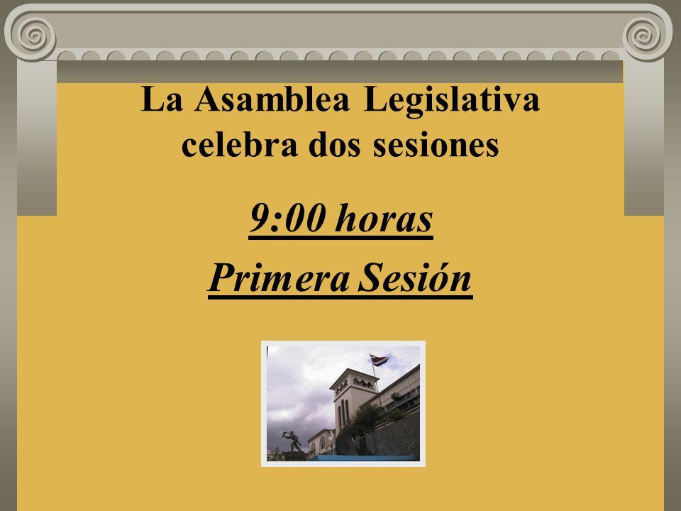 Segunda Sesión: 1º de Mayo La segunda sesión se iniciará a las quince horas o a una hora posterior, según lo determine el Presidente, si la primera sesión no hubiera concluido antes de las quince horas.