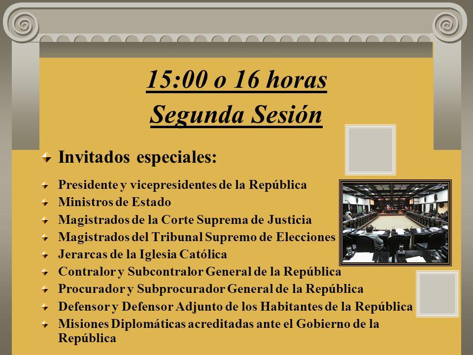 6. Juramentación de las señoras y los señores Diputados. 7. Lectura del acuerdo que declara instalada la Asamblea Legislativa para el período 2002 –20