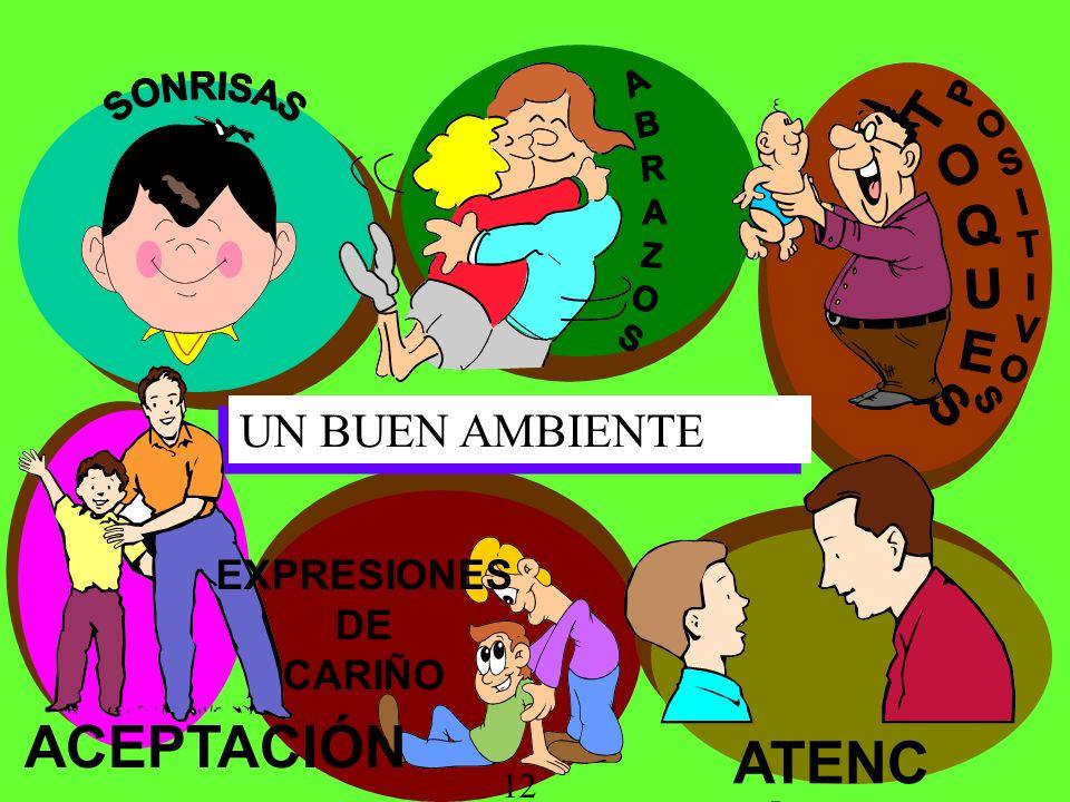 UN BUEN AMBIENTE ATENC IÓN EXPRESIONES DE CARIÑO ACEPTACIÓN 12