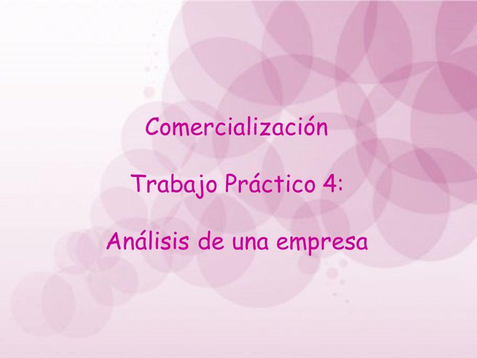 Comercialización Trabajo Práctico 4: Análisis de una empresa