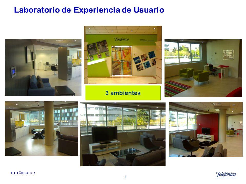 TELEF Ó NICA I+D 1 Laboratorio de Experiencia de Usuario 3 ambientes