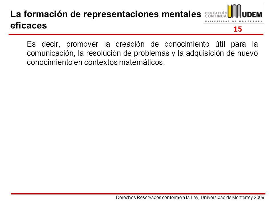 Derechos Reservados conforme a la Ley, Universidad de Monterrey 2009 Es decir, promover la creación de conocimiento útil para la comunicación, la reso