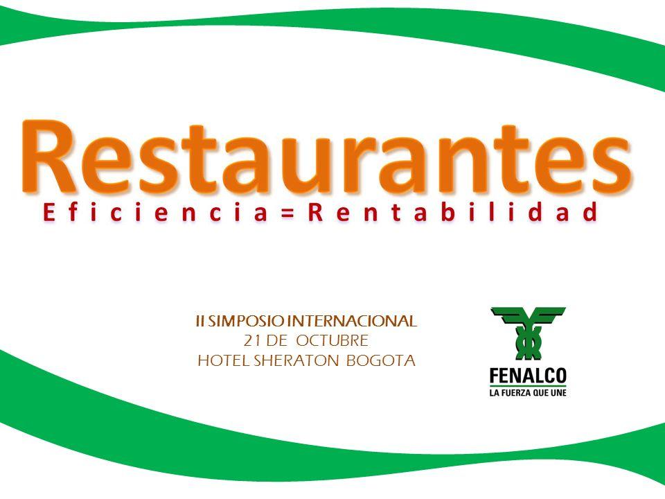 FENALCO, como entidad gremial que trabaja por el fortalecimiento y el crecimiento de los diferentes sectores del comercio, en está oportunidad presenta el Segundo Simposio Internacional de Restaurantes.