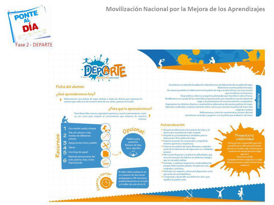 Movilización Nacional por la Mejora de los Aprendizajes Fase 2 - DEPARTE