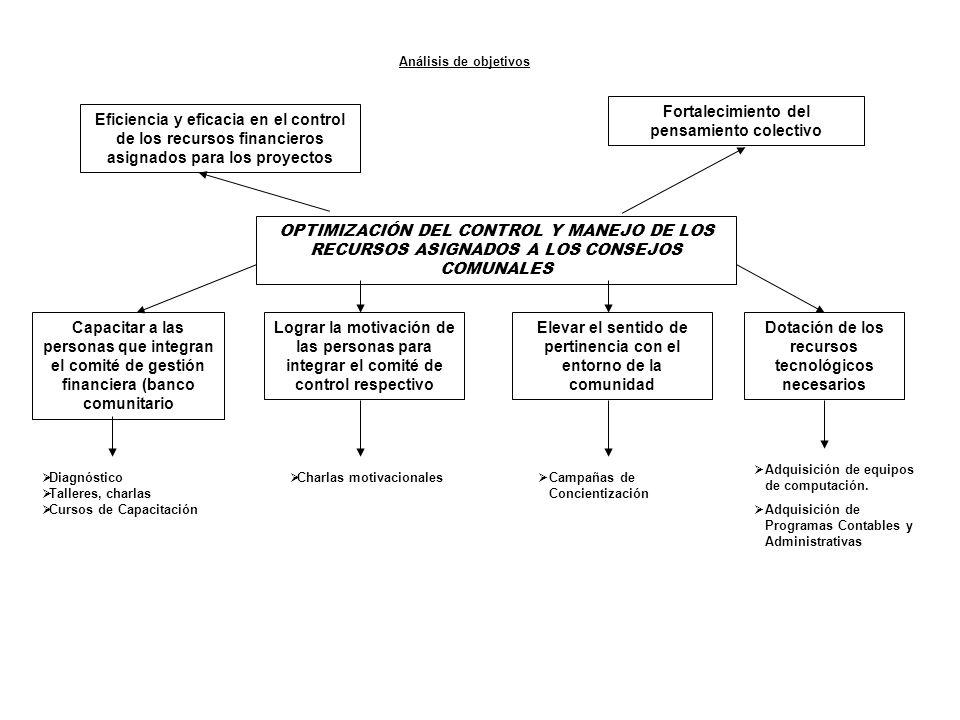OPTIMIZACIÓN DEL CONTROL Y MANEJO DE LOS RECURSOS ASIGNADOS A LOS CONSEJOS COMUNALES Eficiencia y eficacia en el control de los recursos financieros a
