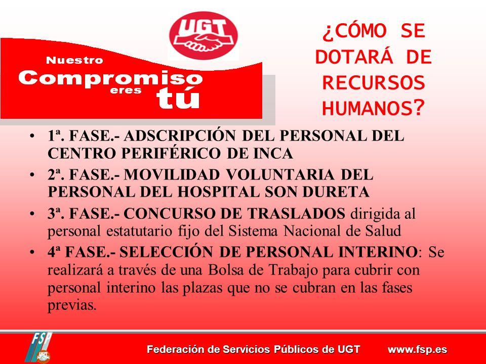 Federación de Servicios Públicos de UGT www.fsp.es ¿CÓMO SE DOTARÁ DE RECURSOS HUMANOS.
