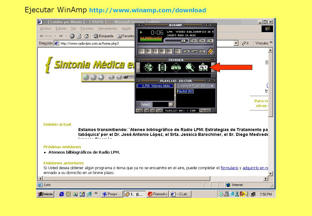 Ejecutar WinAmp http://www.winamp.com/download