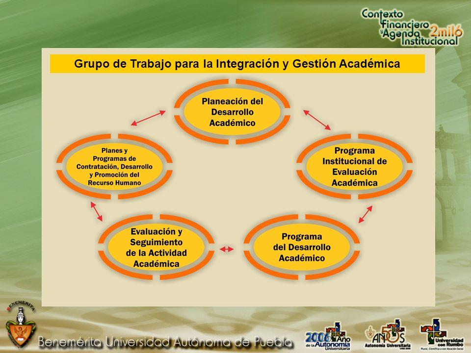Grupo de Trabajo para la Integración y Gestión Académica