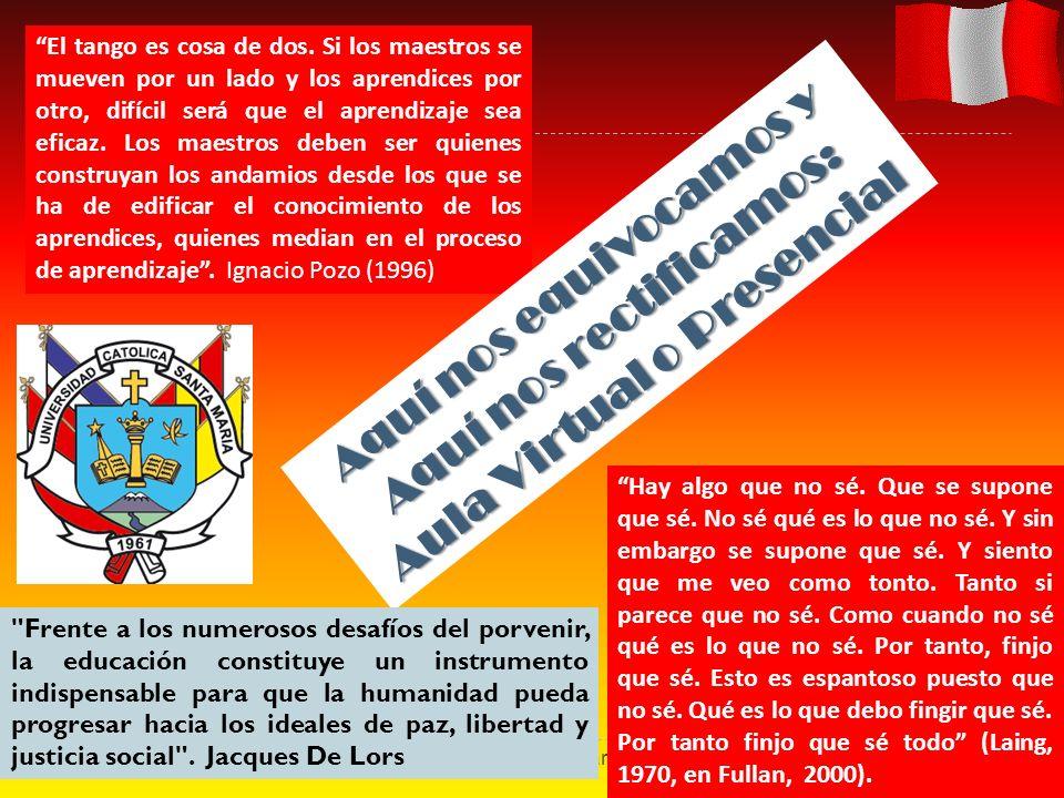 Ramón R. Abarca Fernández1 El tango es cosa de dos. Si los maestros se mueven por un lado y los aprendices por otro, difícil será que el aprendizaje s