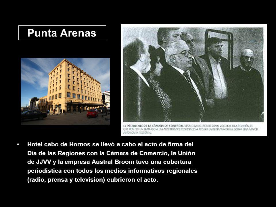 Punta Arenas Hotel cabo de Hornos se llevó a cabo el acto de firma del Día de las Regiones con la Cámara de Comercio, la Unión de JJVV y la empresa Au